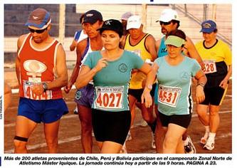 La Marcha Atlética en Portada del Diario la Estrella de Iquique