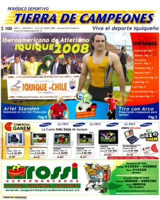 """Nuevo Periódico Deportivo en Iquique """" Tierra de Campeones """""""