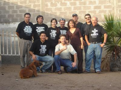 Parte del Grupo Atina Iquique que participó en la encuesta ciudadana el día Sábado 22 de Julio 2006