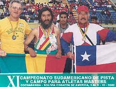 Recuerdo del Campeonato Sudamericano de Atletas Masters Cochabamba Bolivia 2002